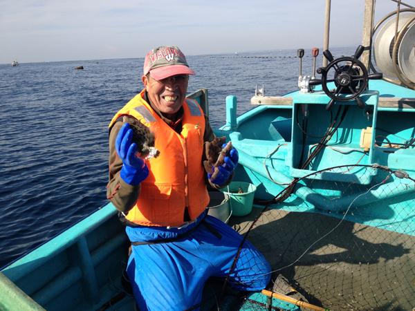 カワハギ漁